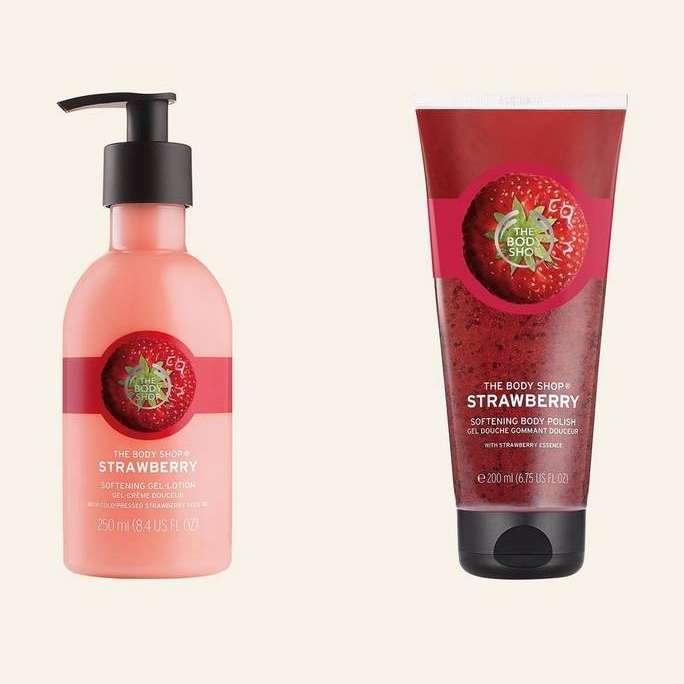 Strawberry Softening Gel-Lotion 250ml &Strawberry Softening Body Polish 200 ml